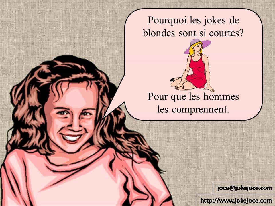 Pourquoi les jokes de blondes sont si courtes