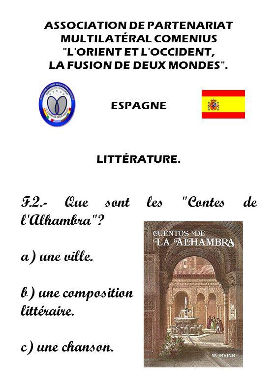F.2.- Que sont les Contes de l Alhambra