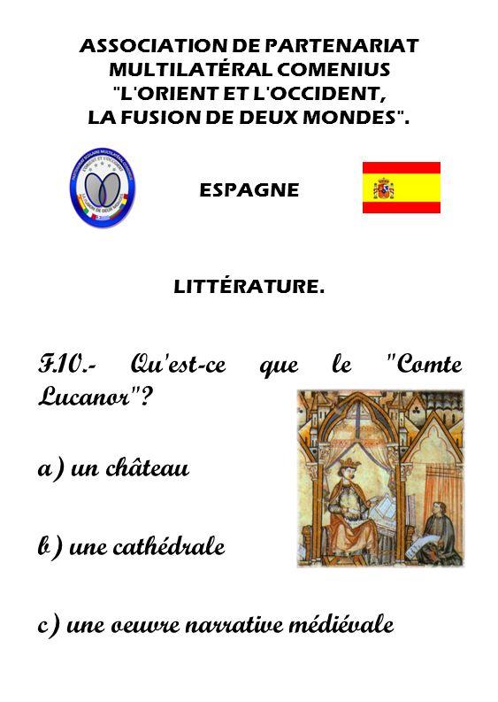 F.10.- Qu est-ce que le Comte Lucanor