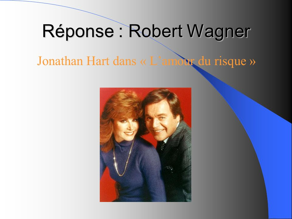 Réponse : Robert Wagner