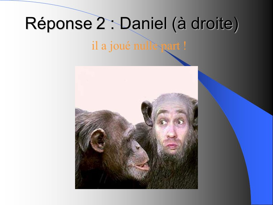 Réponse 2 : Daniel (à droite)