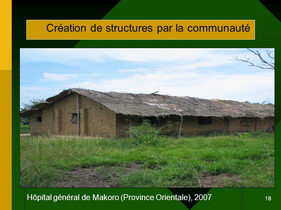 Hôpital général de Makoro (Province Orientale), 2007