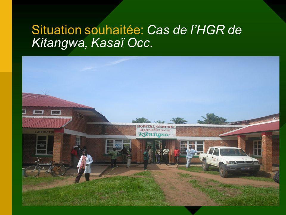Situation souhaitée: Cas de l'HGR de Kitangwa, Kasaï Occ.