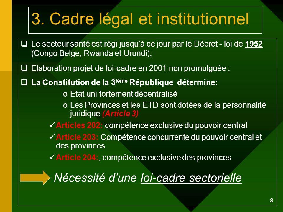 3. Cadre légal et institutionnel