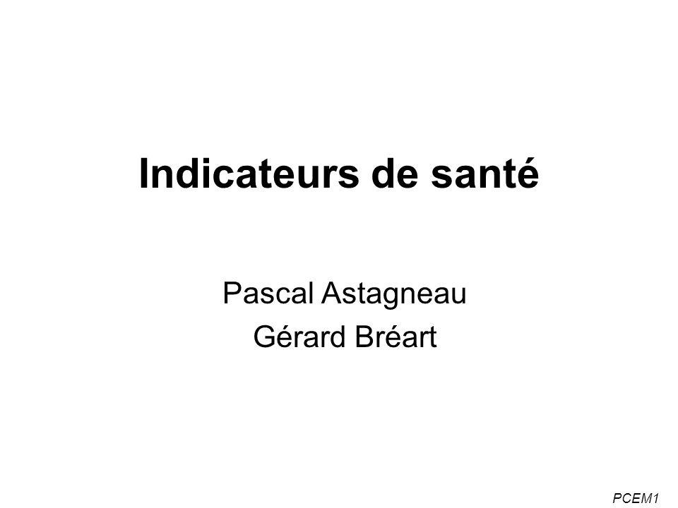 Pascal Astagneau Gérard Bréart