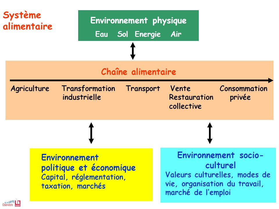 Environnement physique Environnement socio-culturel