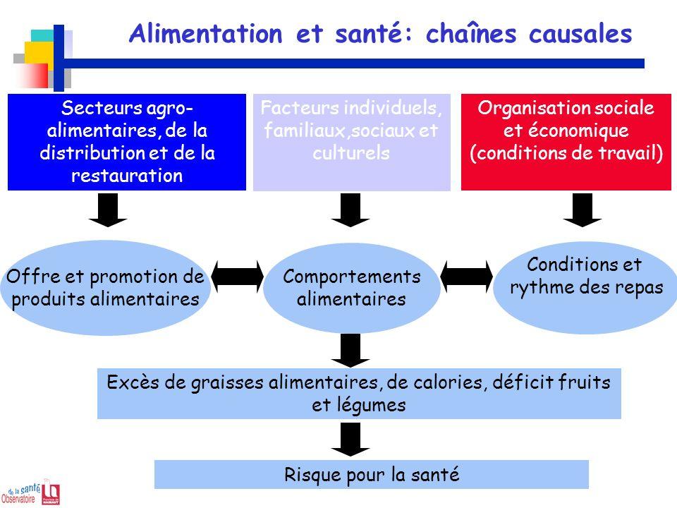Alimentation et santé: chaînes causales