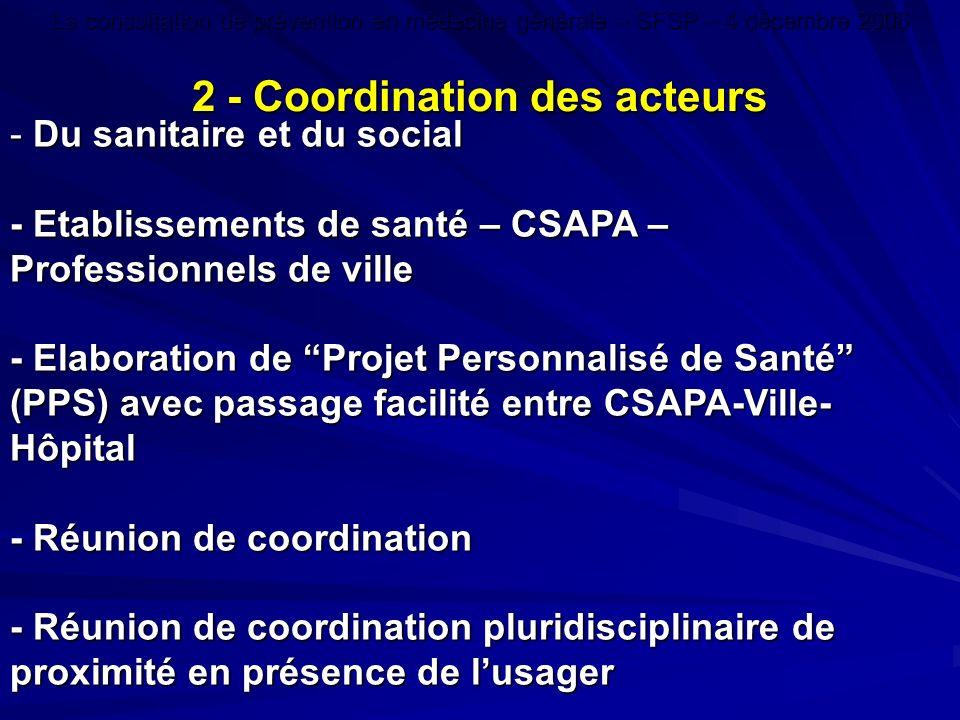 2 - Coordination des acteurs