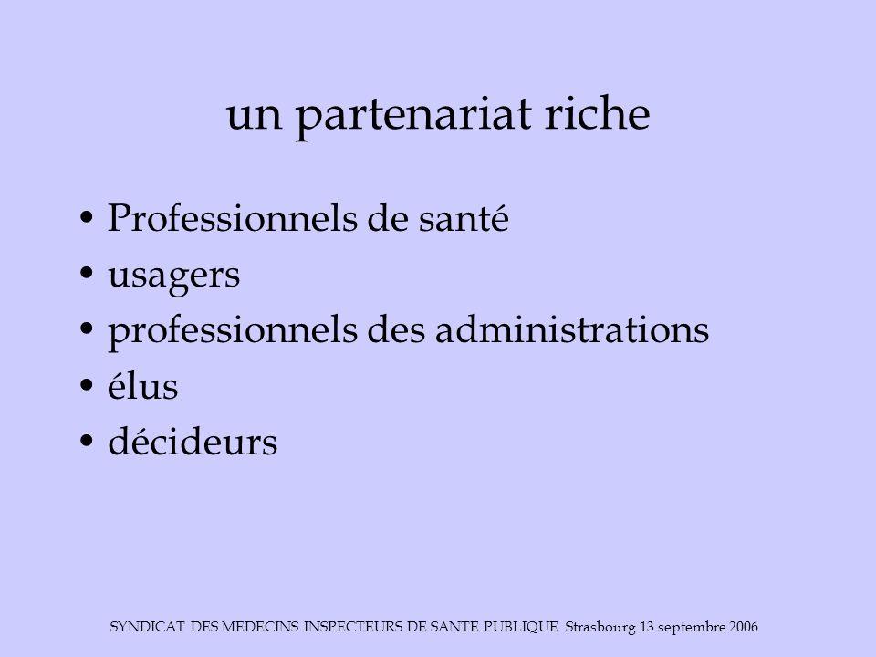 un partenariat riche Professionnels de santé usagers