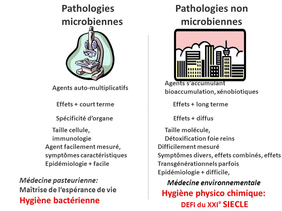 Médecine environnementale Hygiène physico chimique: