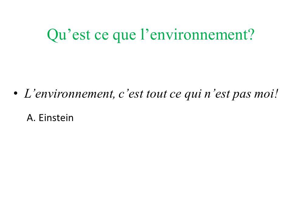 Qu'est ce que l'environnement