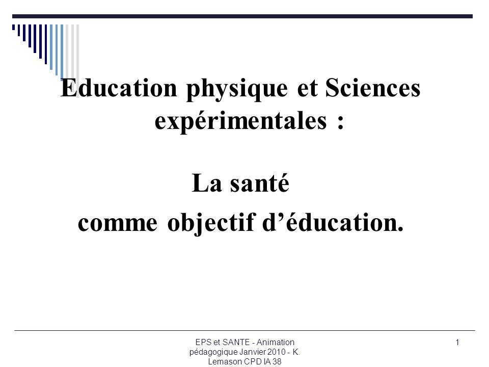 Education physique et Sciences expérimentales :