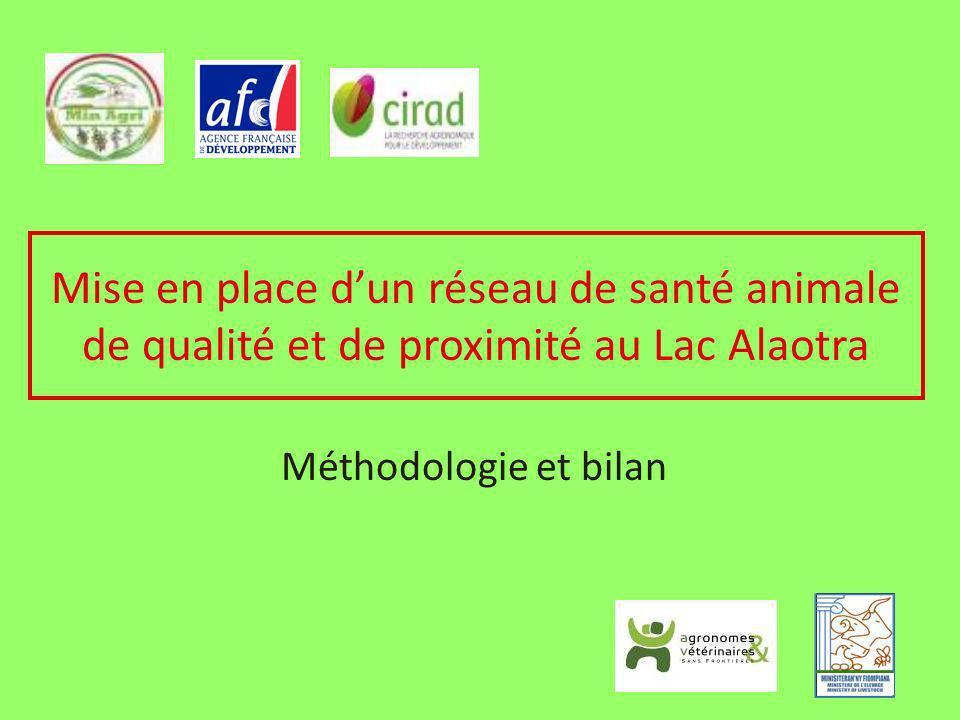 Mise en place d'un réseau de santé animale de qualité et de proximité au Lac Alaotra