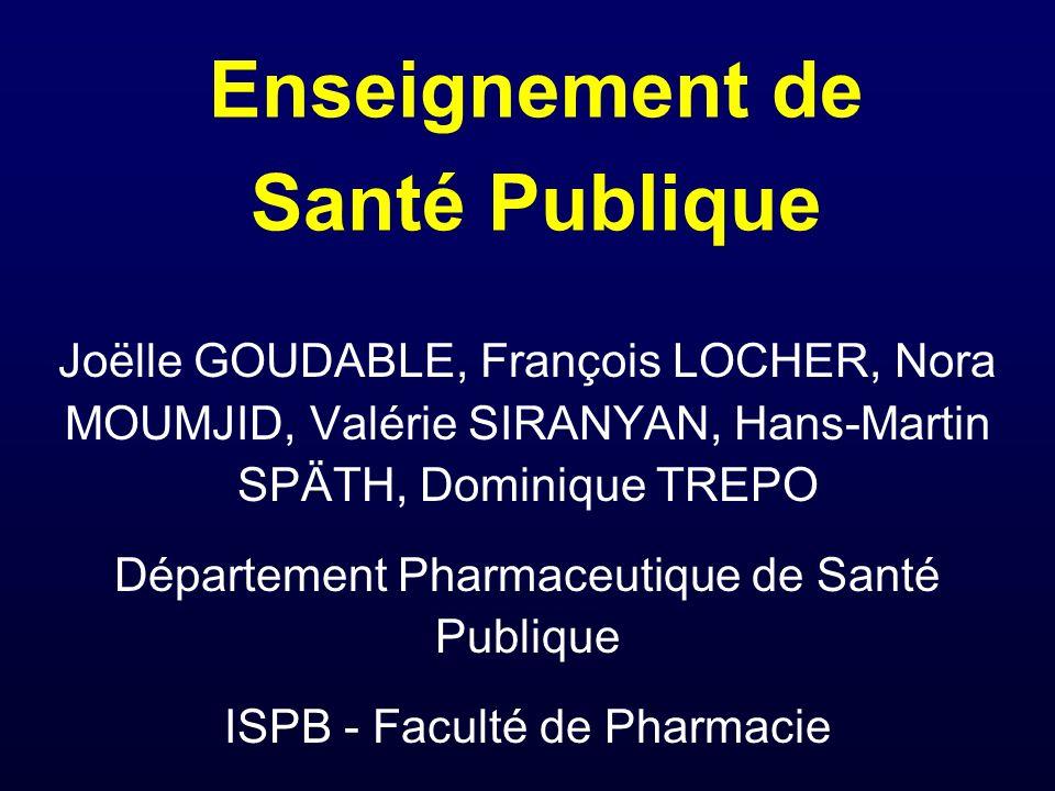 Enseignement de Santé Publique
