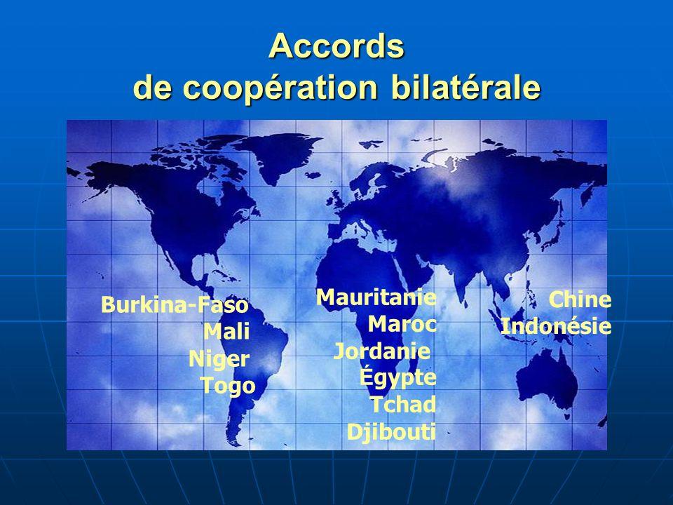Accords de coopération bilatérale