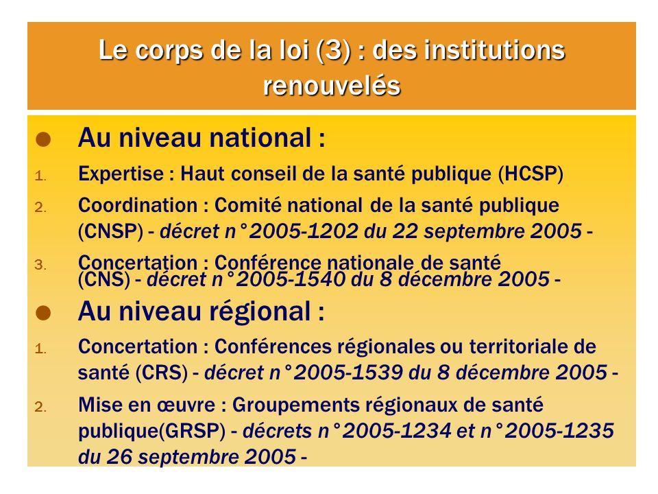 Le corps de la loi (3) : des institutions renouvelés