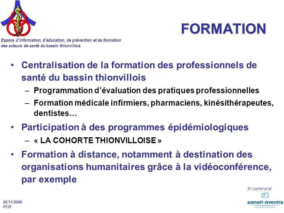 FORMATION Centralisation de la formation des professionnels de santé du bassin thionvillois.