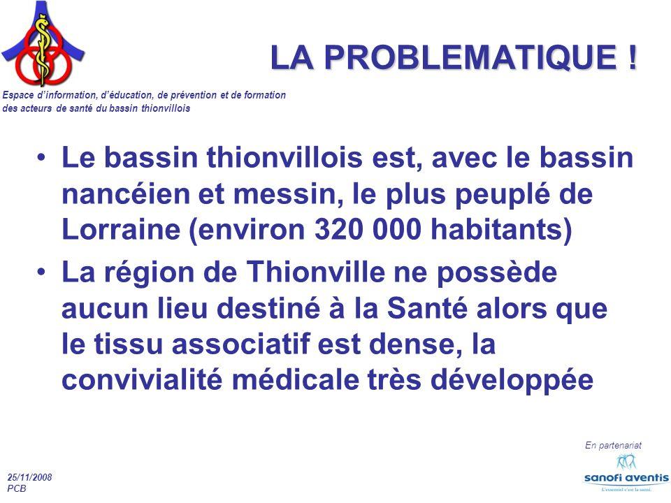 LA PROBLEMATIQUE ! Le bassin thionvillois est, avec le bassin nancéien et messin, le plus peuplé de Lorraine (environ 320 000 habitants)