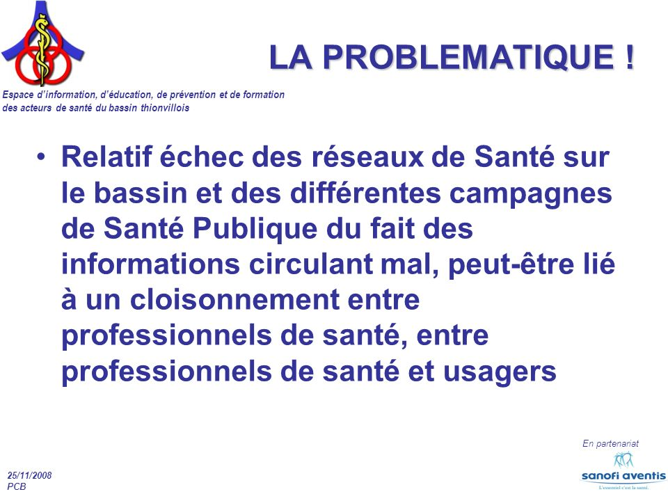 LA PROBLEMATIQUE !
