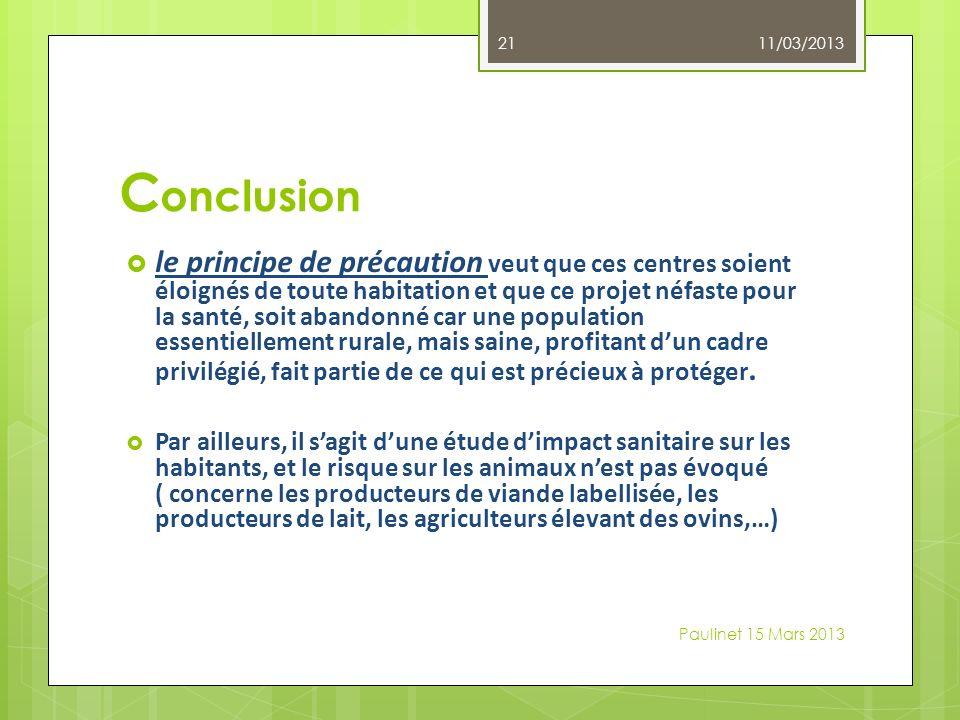 11/03/2013 Conclusion.