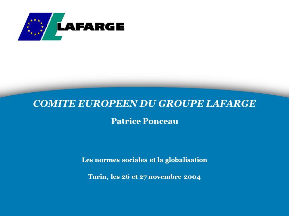 COMITE EUROPEEN DU GROUPE LAFARGE