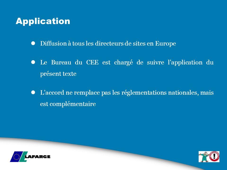 Application Diffusion à tous les directeurs de sites en Europe