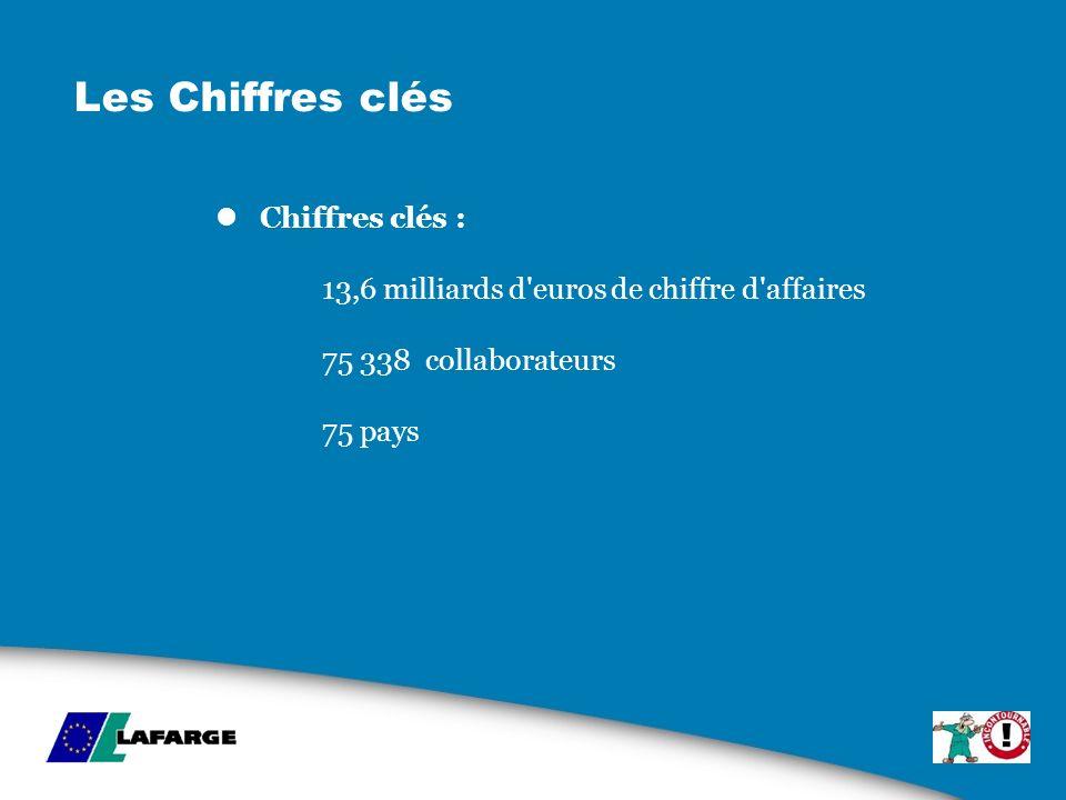 Les Chiffres clés Chiffres clés : 13,6 milliards d euros de chiffre d affaires 75 338 collaborateurs 75 pays.