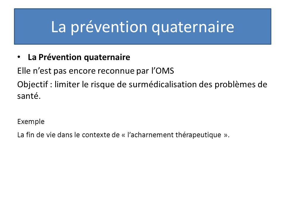 La prévention quaternaire