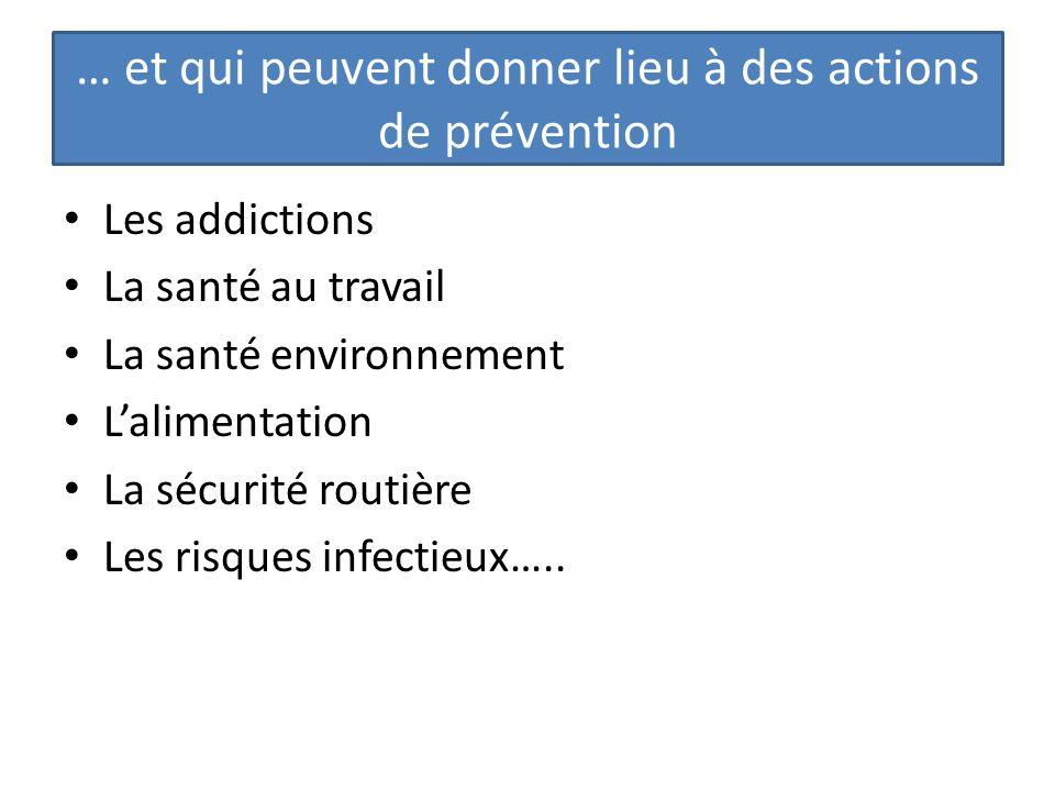 … et qui peuvent donner lieu à des actions de prévention