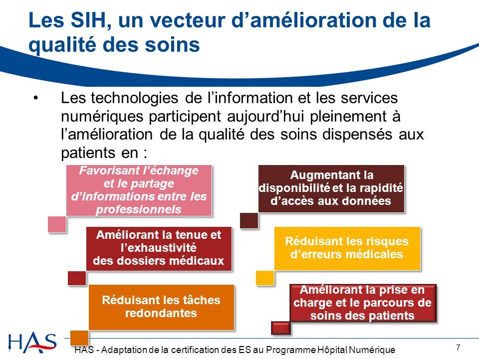 Les SIH, un vecteur d'amélioration de la qualité des soins