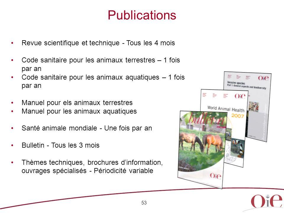 Publications Revue scientifique et technique - Tous les 4 mois