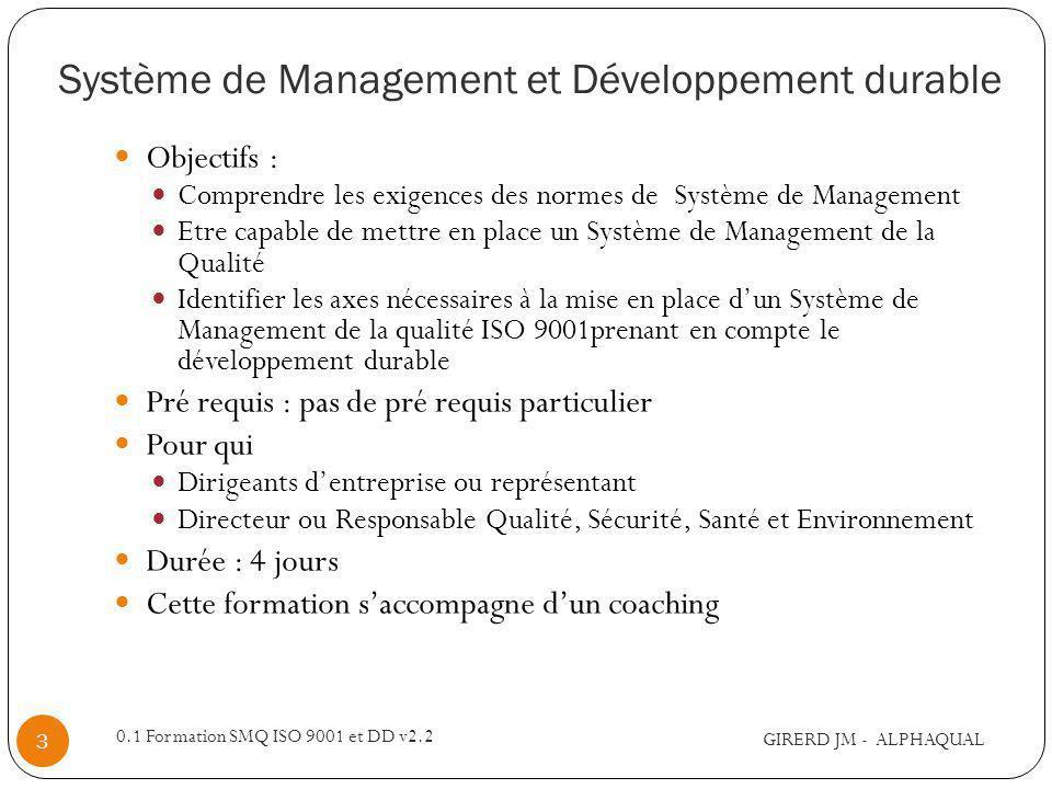 Système de Management et Développement durable