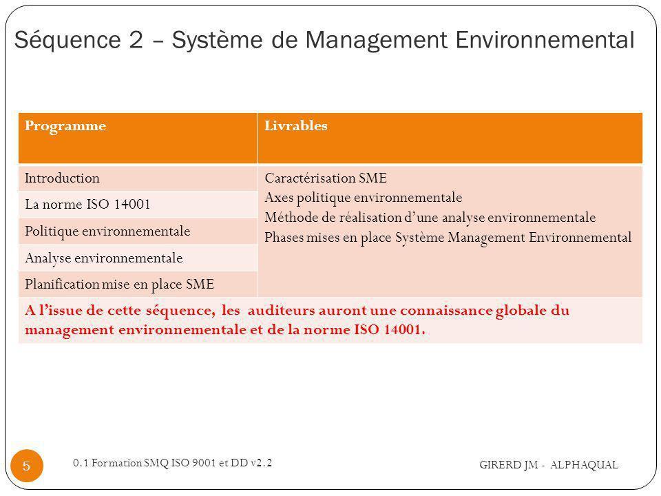 Séquence 2 – Système de Management Environnemental