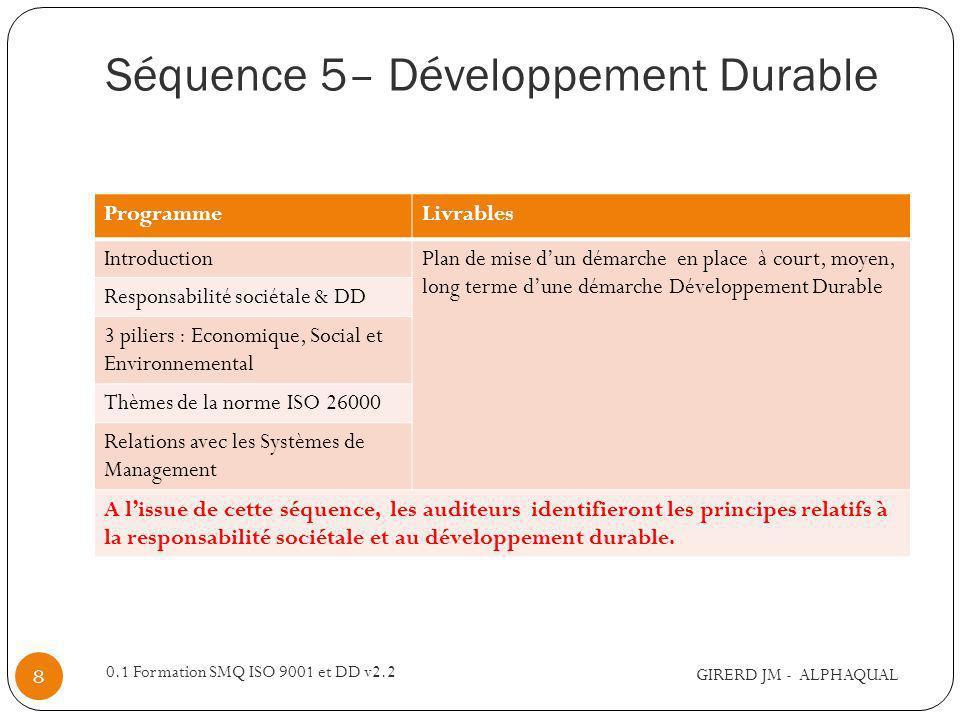 Séquence 5– Développement Durable