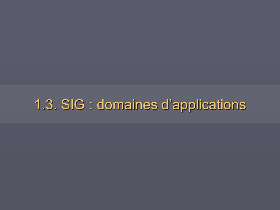 1.3. SIG : domaines d'applications