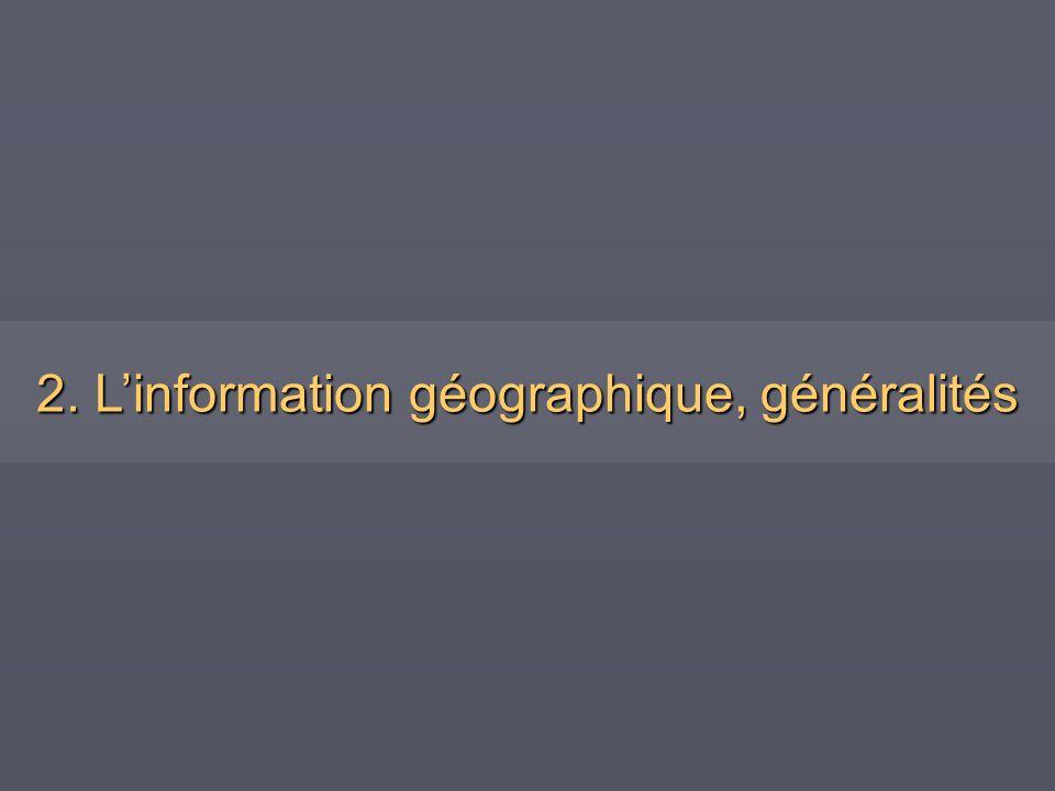 2. L'information géographique, généralités