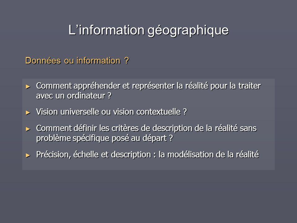 L'information géographique