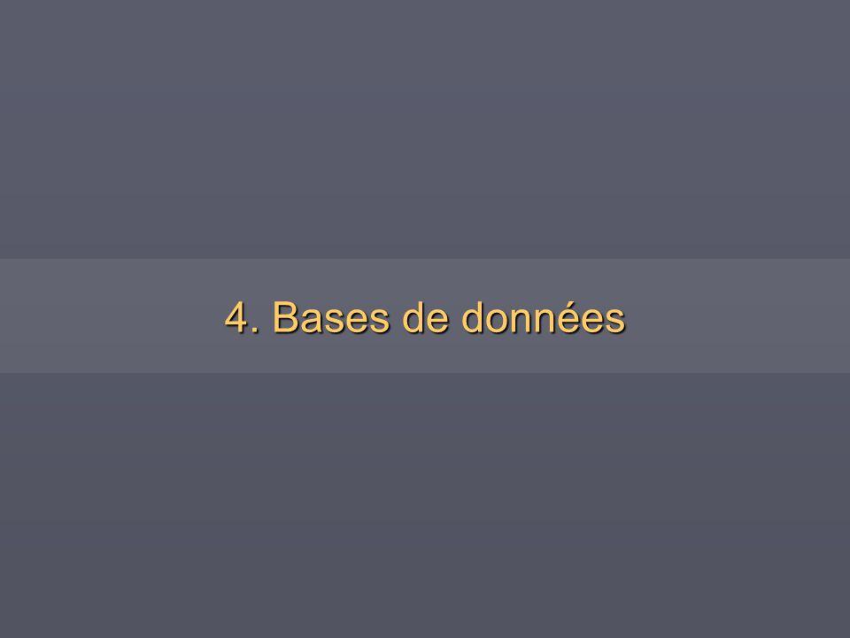 4. Bases de données