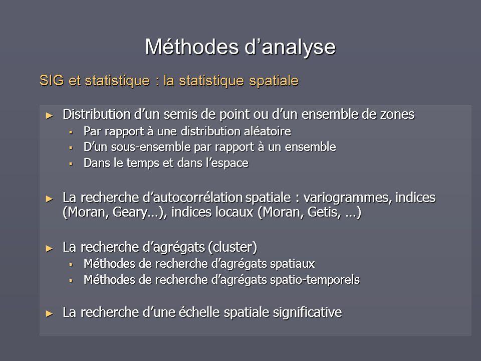 Méthodes d'analyse SIG et statistique : la statistique spatiale