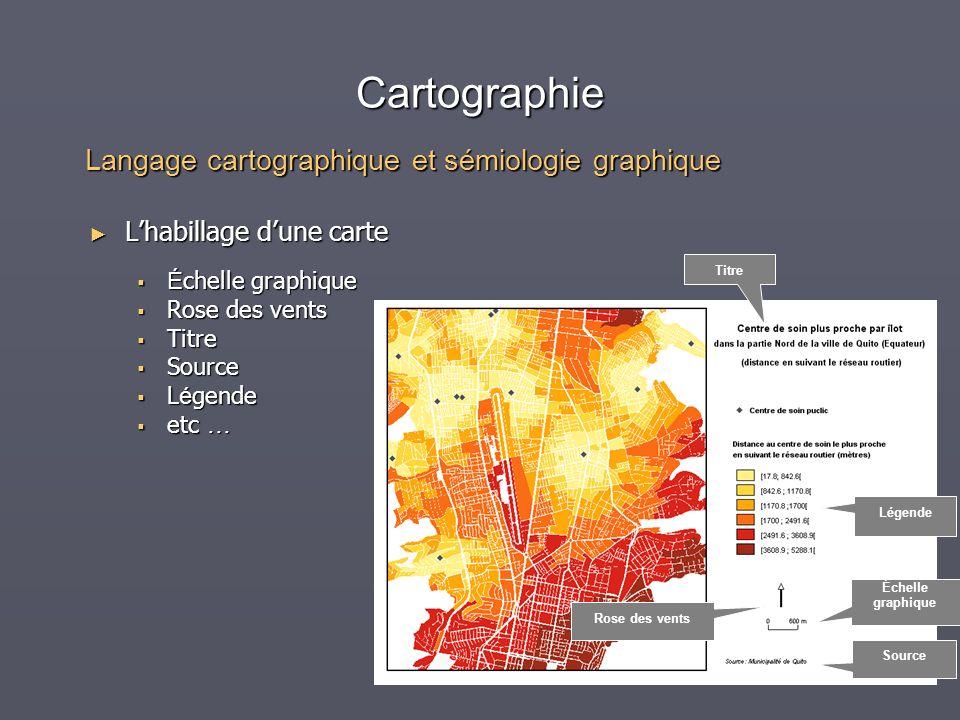 Cartographie Langage cartographique et sémiologie graphique
