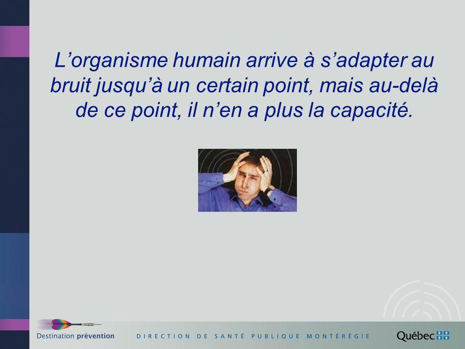L'organisme humain arrive à s'adapter au