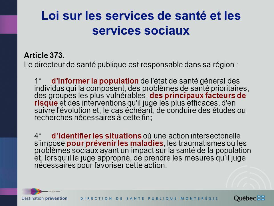 Loi sur les services de santé et les services sociaux