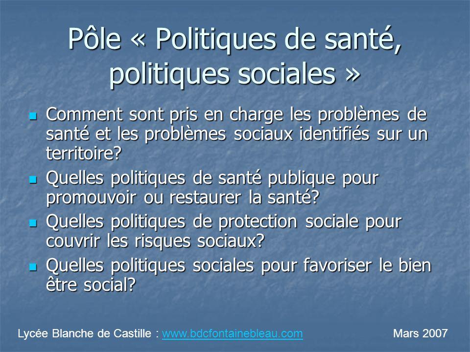 Pôle « Politiques de santé, politiques sociales »