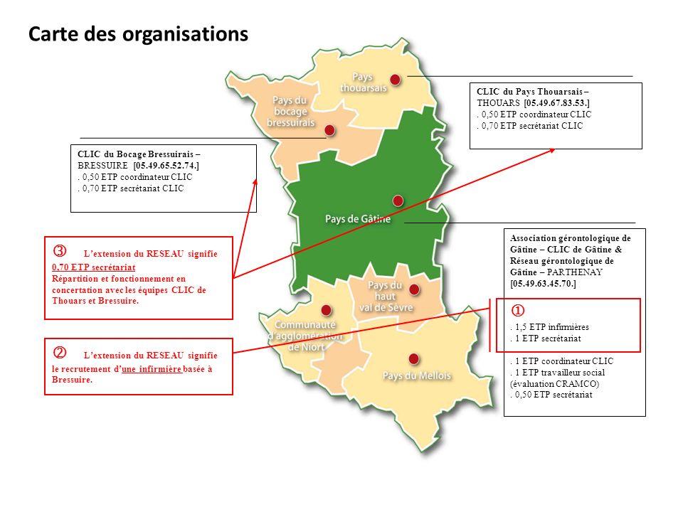 Carte des organisations