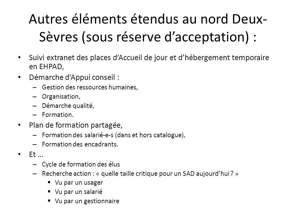 Autres éléments étendus au nord Deux-Sèvres (sous réserve d'acceptation) :