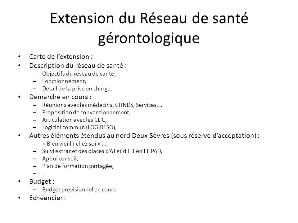 Extension du Réseau de santé gérontologique