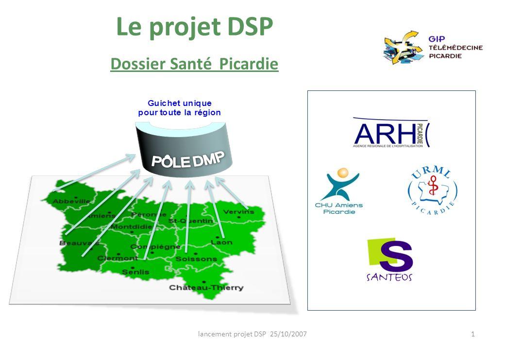 Le projet DSP Dossier Santé Picardie