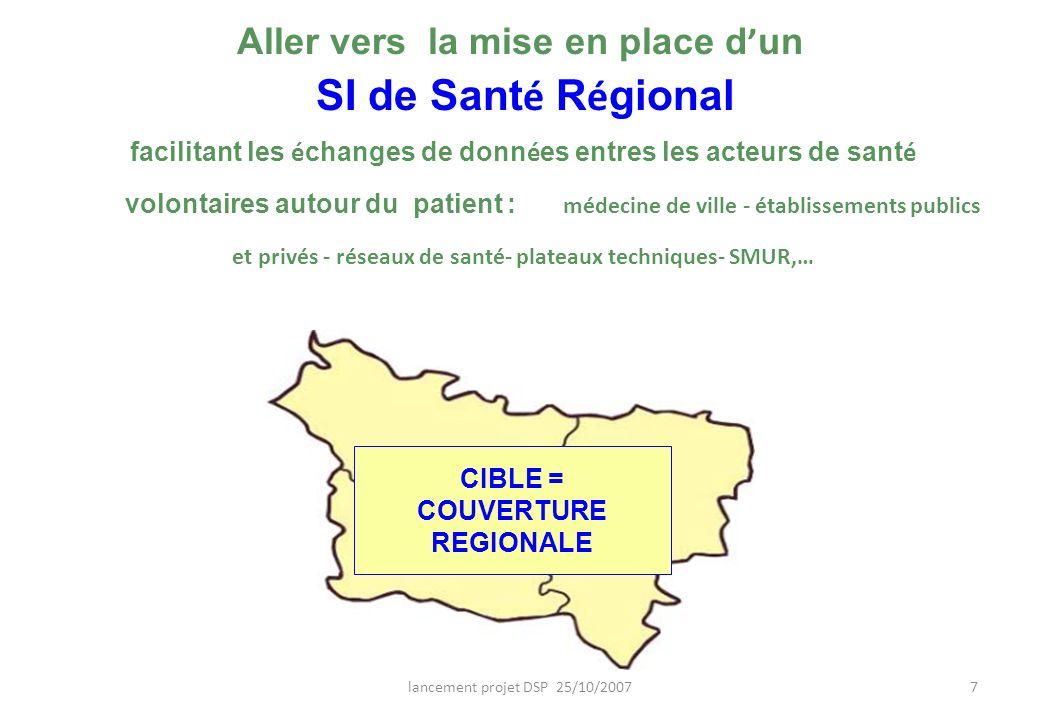 Aller vers la mise en place d'un SI de Santé Régional