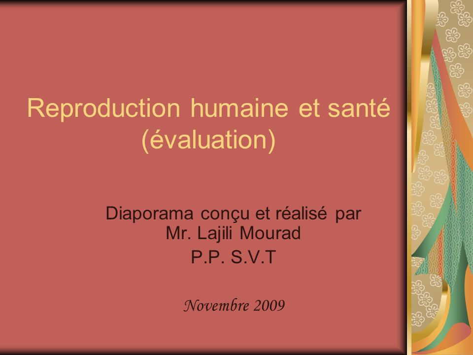 Reproduction humaine et santé (évaluation)