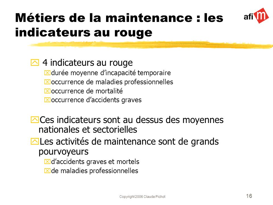 Métiers de la maintenance : les indicateurs au rouge
